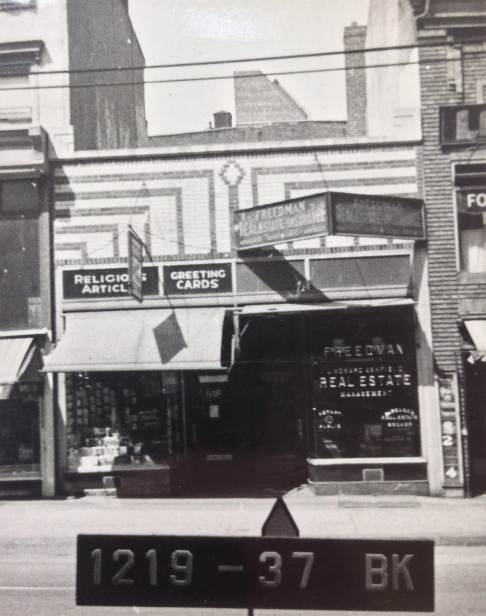 658 Nostrand Ave., early 1940s. Photo: Department of Finance collection, NYC Municipal Archives.