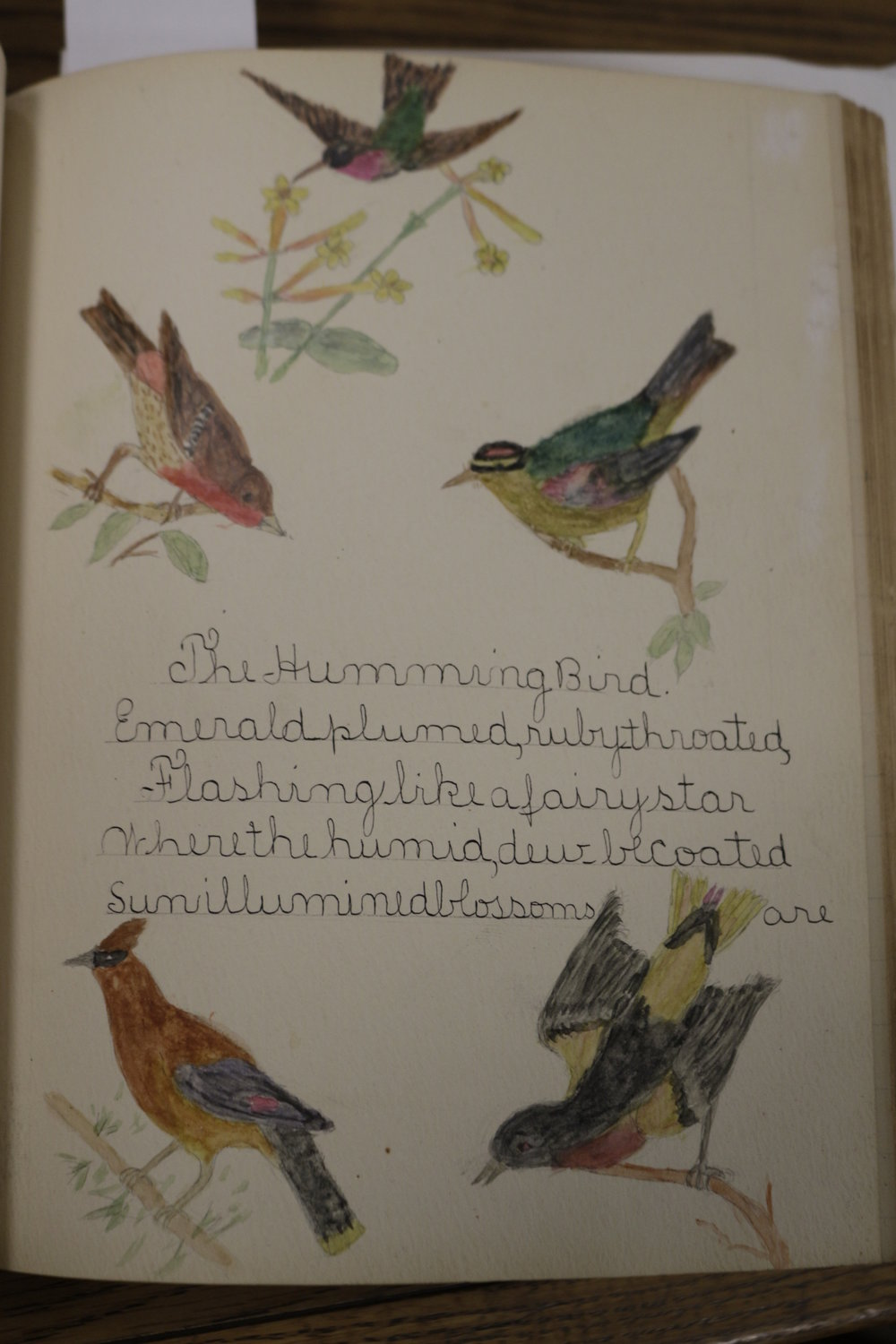 Illustration by Joseph Loveington, age not provided. Poem by Edith W. Barber, 12 years old. PS 20, Staten Island.