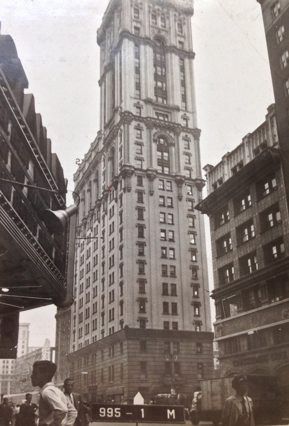 1451-55 Broadway, Manhattan, circa 1940. New Yorkers have been watching the New Year's Eve ball drop from the top of this building since 1908. Department of Finance Collection, NYC Municipal Archives.