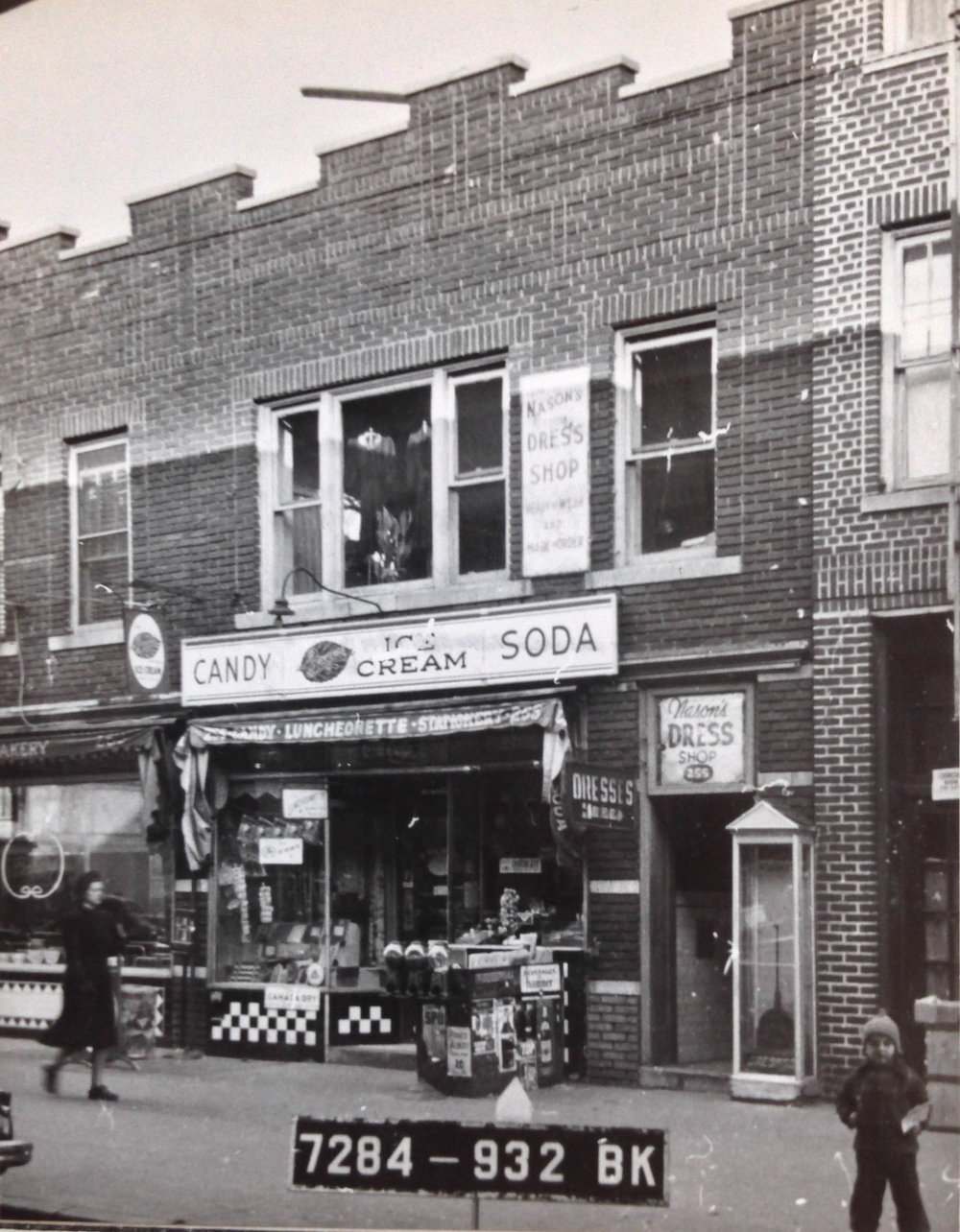 "255 Brighton Beach Avenue, Brooklyn, circa 1940. The neighborhood of Brighton Beach is now sometimes referred to as ""Little Odessa,"" but in the 1940's it was home to a lot of immigrant families escaping turmoil in Europe. Department of Finance Collection, NYC Municipal Archives."
