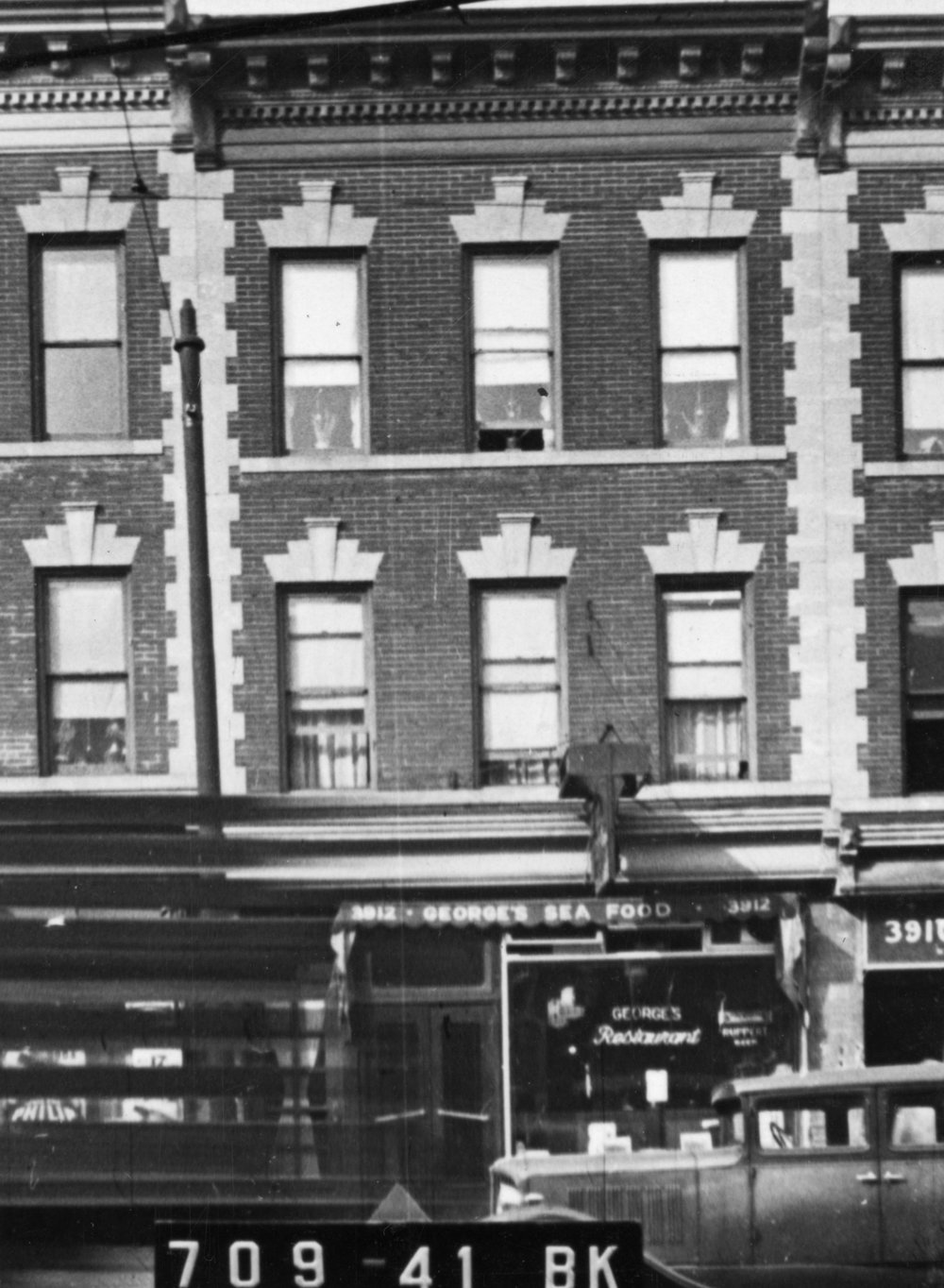 3912 5th Avenue, Brooklyn, NY, circa 1940. Department of Finance Collection, NYC Municipal Archives.