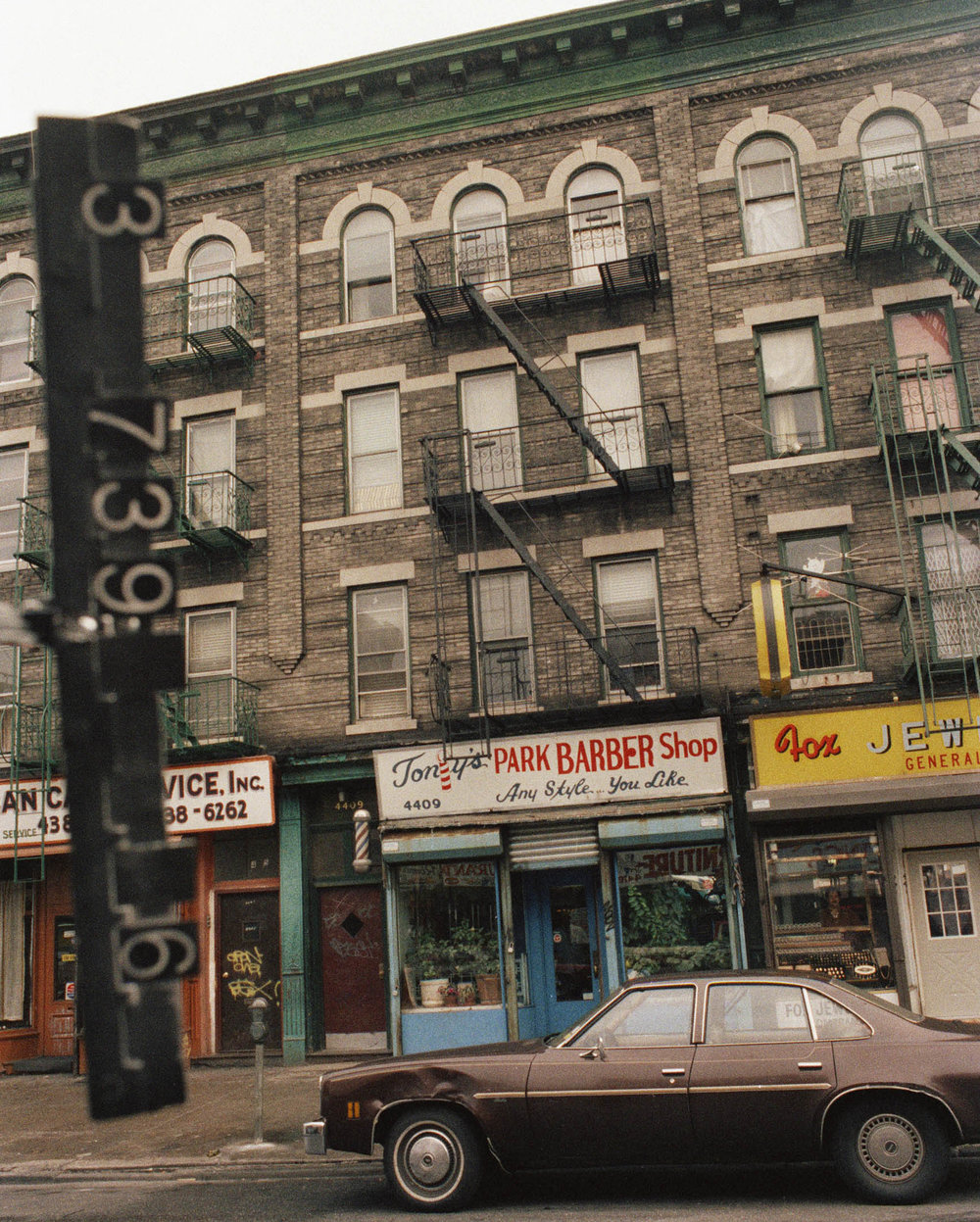4409 5th Ave, Brooklyn, NY, mid-1980s. NYC Municipal Archives.