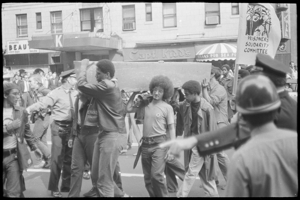 Demonstration at Lexington Avenue and 23rd Street, support for Attica, October 6, 1971