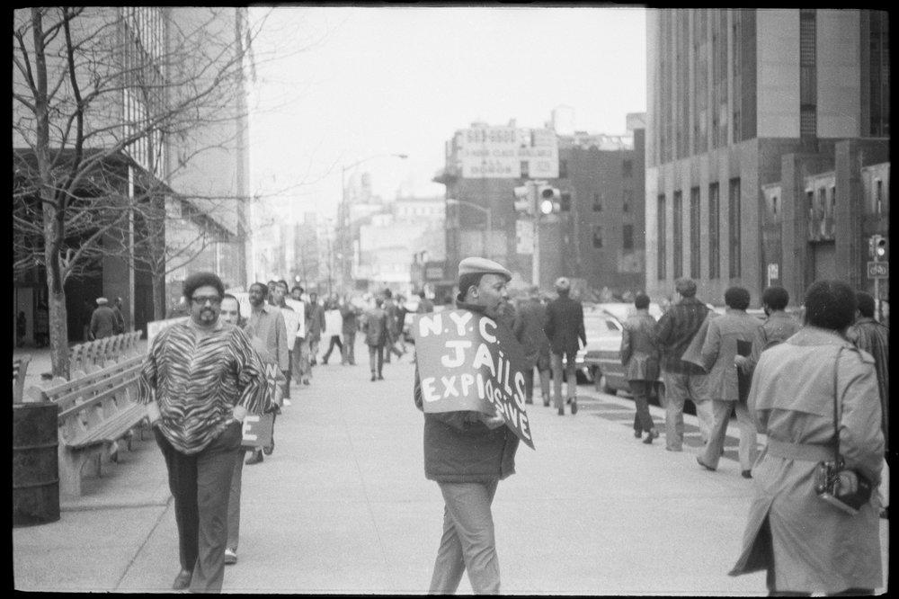 Correction officers demonstration, December 14, 1971
