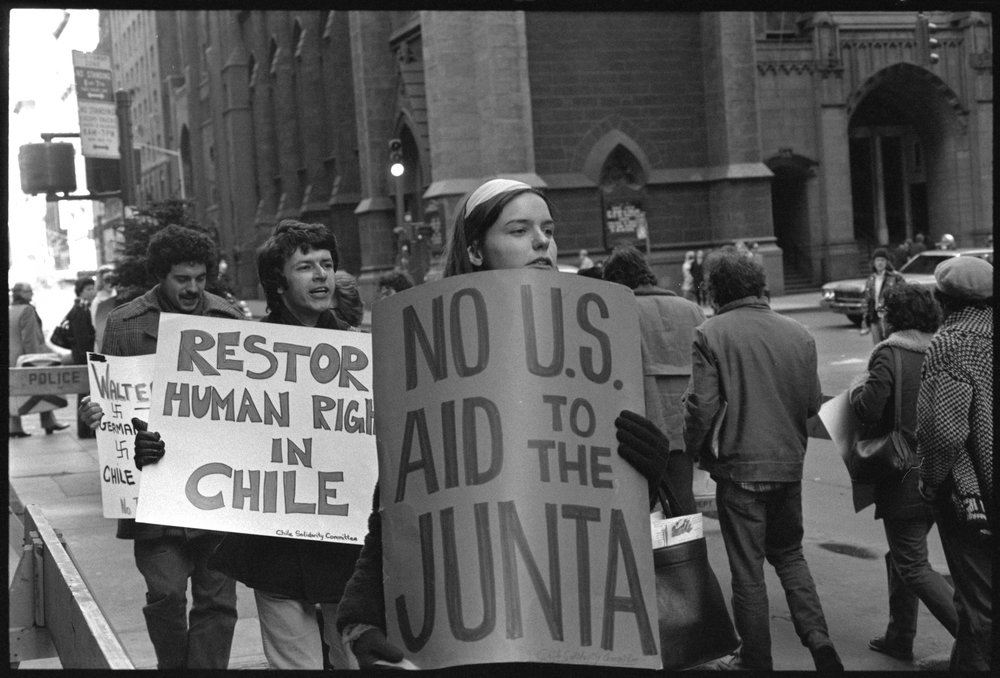 """Restore human rights in Chile,"" 1975"