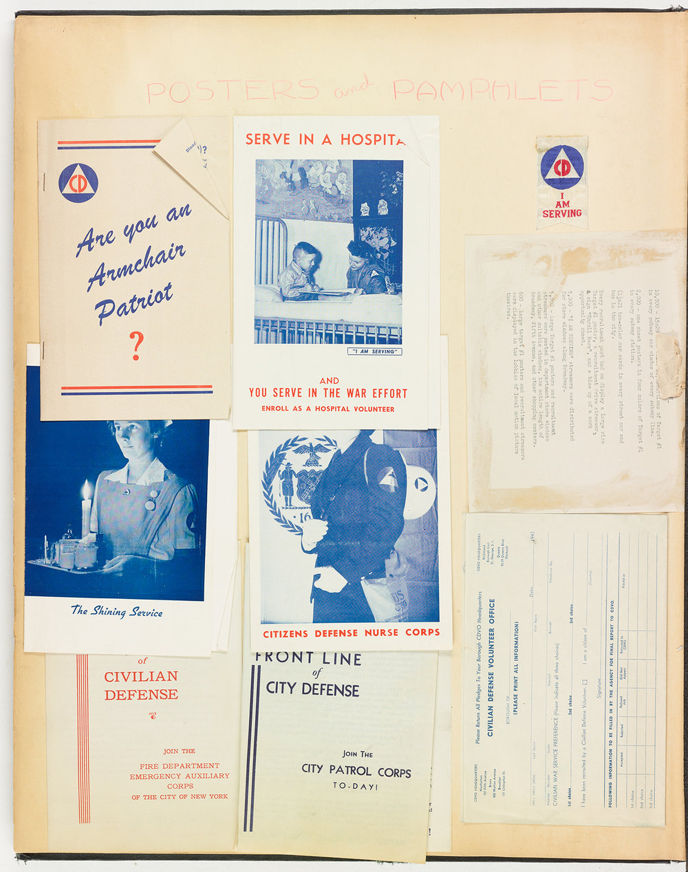 Pamphlets collected in the Civil Defense scrapbook. Mayor La Guardia Papers, NYC Municipal Archives.