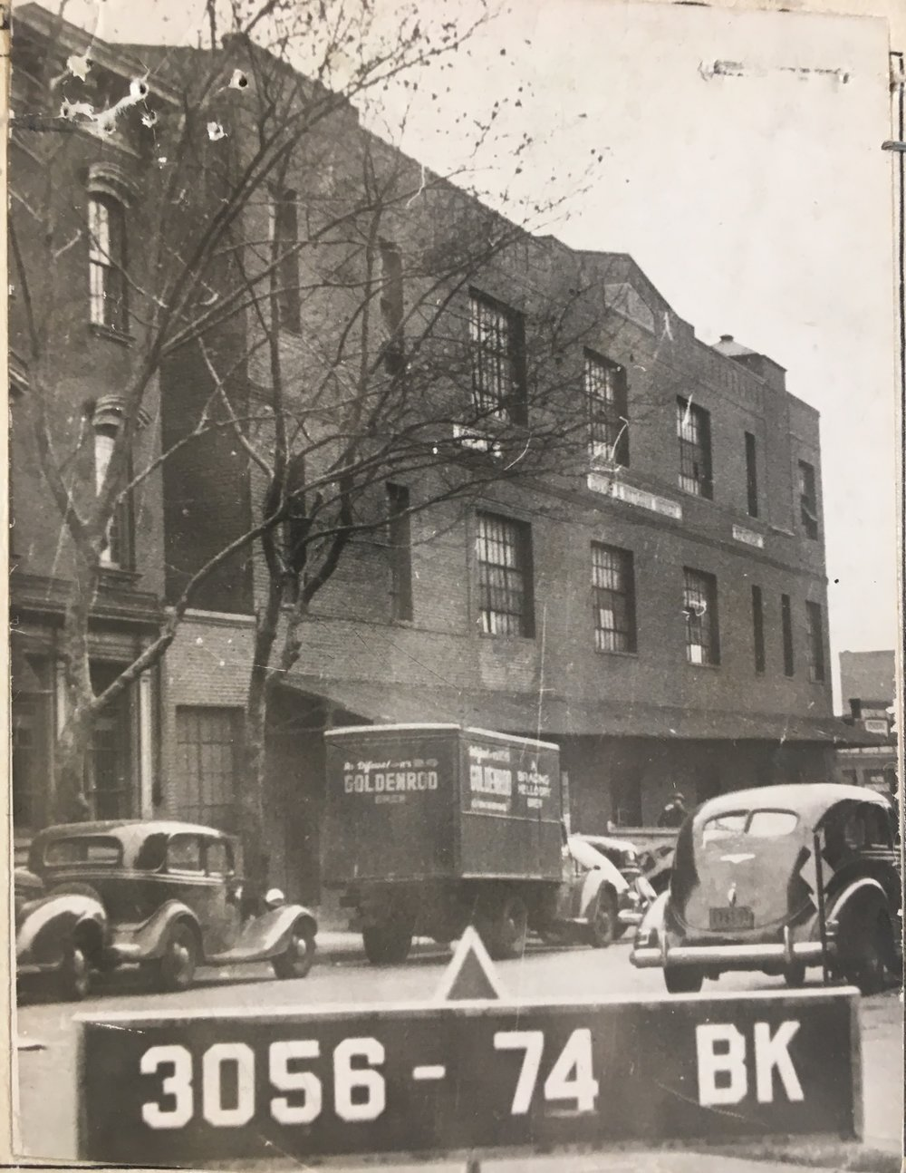 1 Bushwick Place, which was home to the Hittleman Brewery Company, seen here in the 1940s. Department of Finance Collection, NYC Municipal Archives.