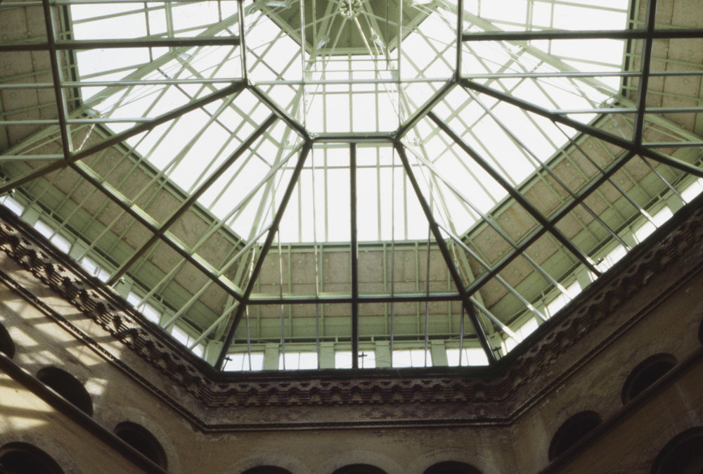 The beautiful glass ceiling in the rotunda, 1983. Photo by Kenneth R. Cobb