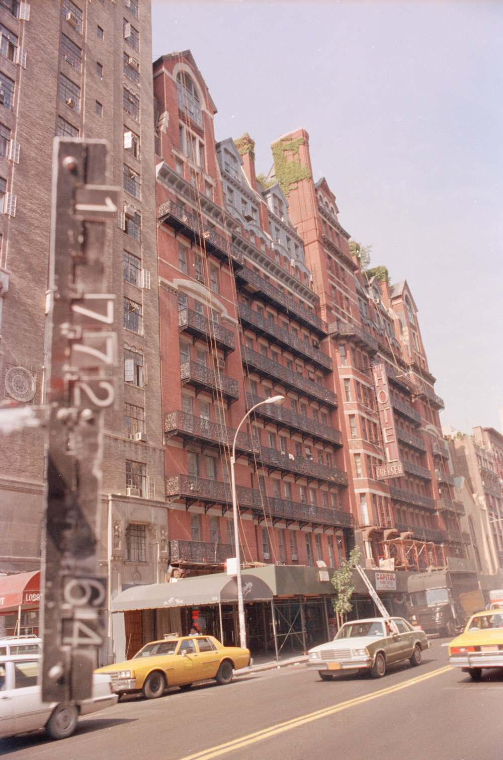 215-28 West 23rd Street, The Chelsea Hotel, ca. 1985. DOF Tax Photo Collection, NYC Municipal Archives.