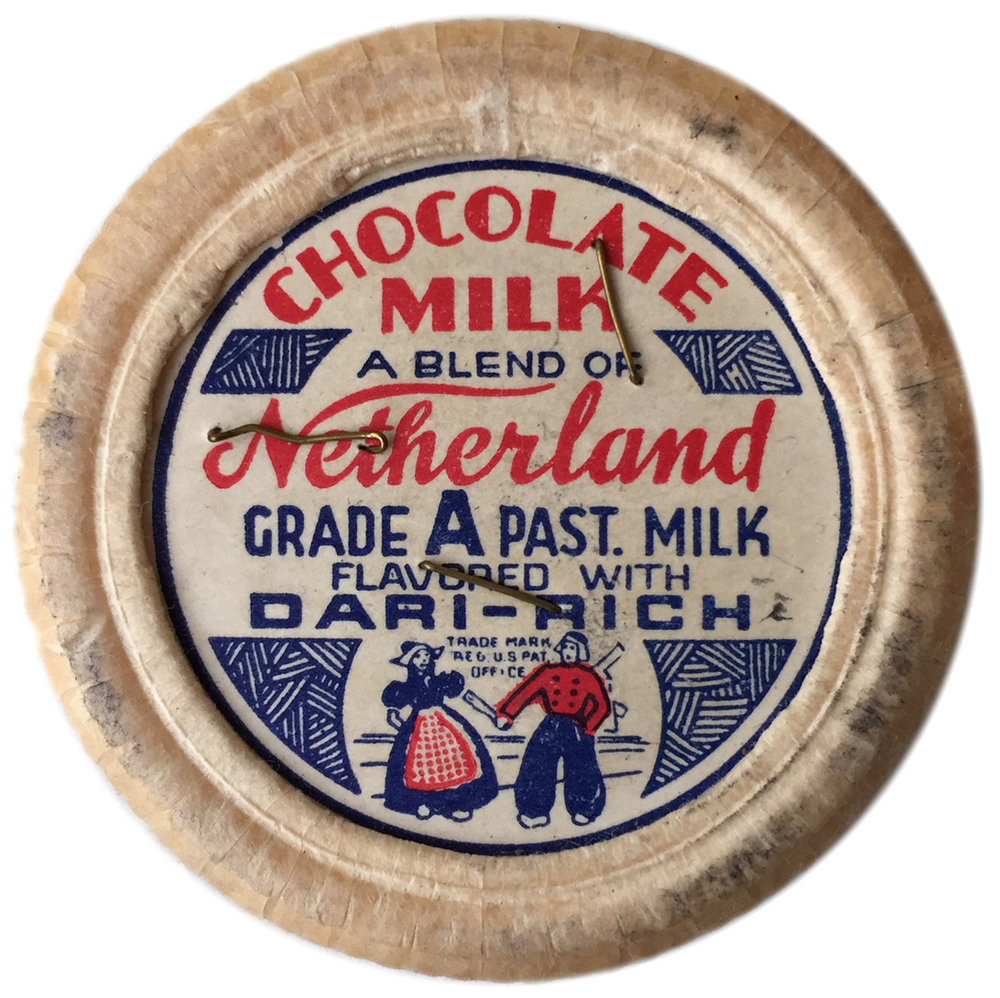 Chocolate milk cap, 1936. Department of Health collection, NYC Municipal Archives.
