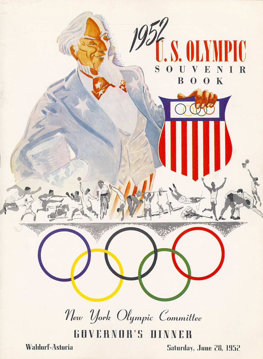 The 1952 festivities included a gala dinner for the athletes at the Waldorf Astoria on June 28.