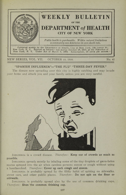 The Flu Epidemic Of 1918 Nyc Department Of Records Information