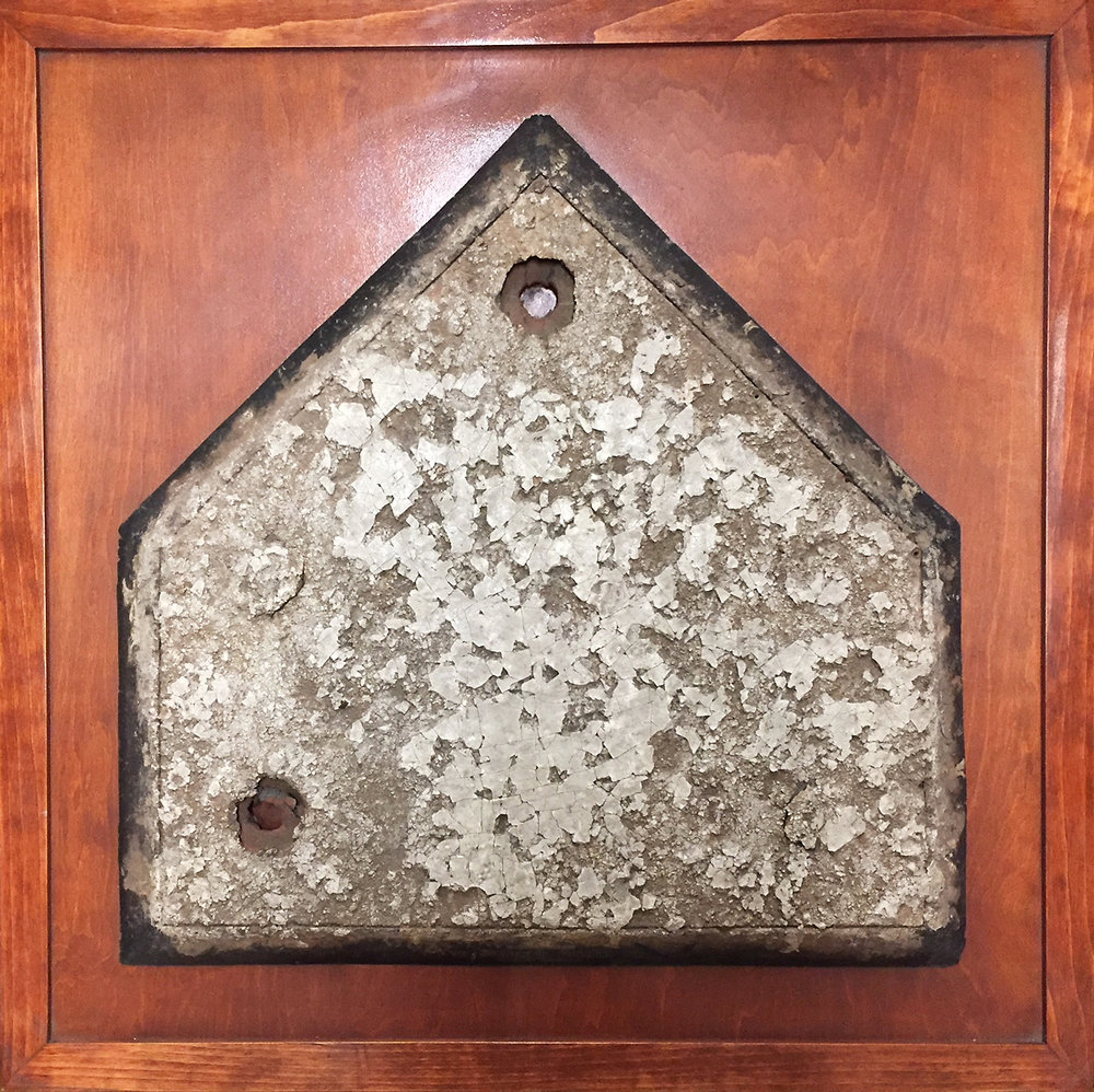 Home plate from Ebbets Field, ca. 1957. Brooklyn Borough Presidents Collection, NYC Municipal Archives.