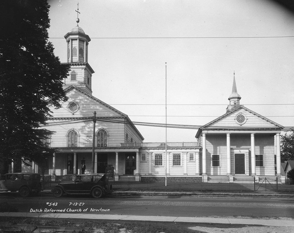 Dutch Reformed Church of Newtown, Queens, July 13, 1927. Borough President Queens Collection, NYC Municipal Archives.