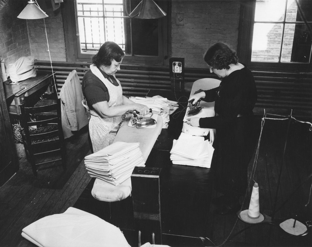 WPA Activities, Sewing Project (Ironers), Date: 1937. Photographer: Andrew Herman. WPA-FWP Collection, NYC Municipal Archives.