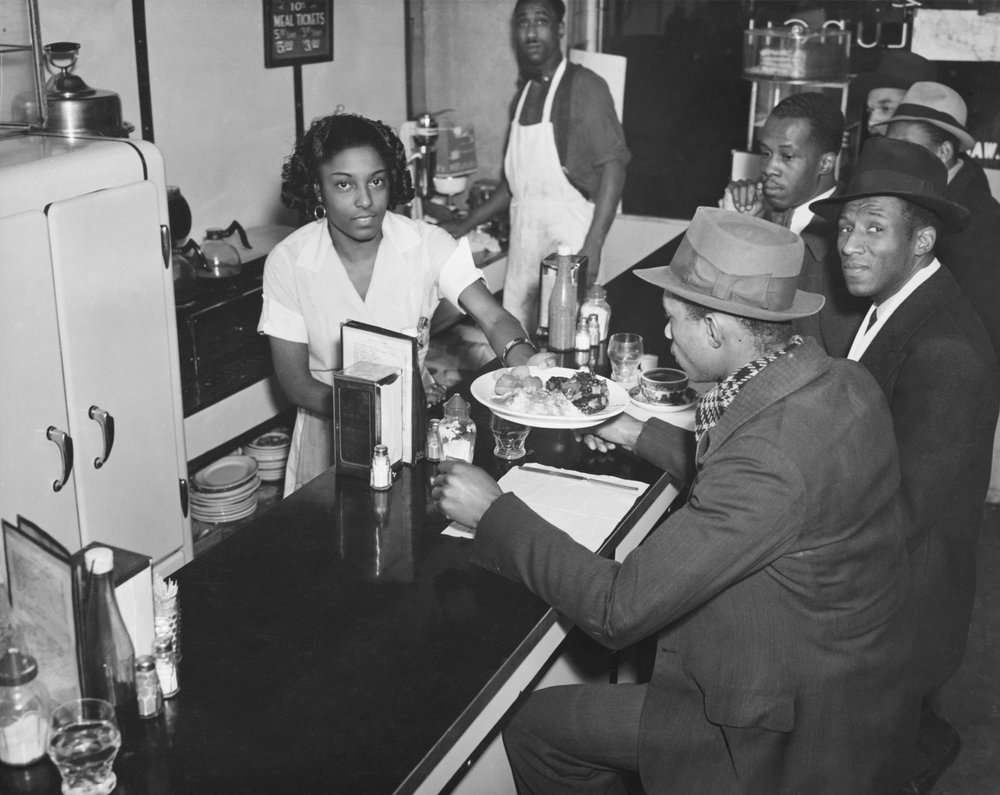 Counter of the Unique Lunch, 195 West 135th Street. Date: December 14, 1937. Photographer: Aubrey Pollard. WPA-FWP Collection, NYC Municipal Archives.