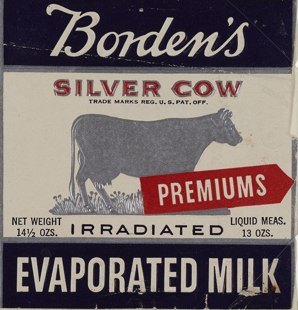 "Label for Borden's ""irradiated"" evaporated milk, ca. 1938. WPA Federal Writers' Project Collection, NYC Municipal Archives."