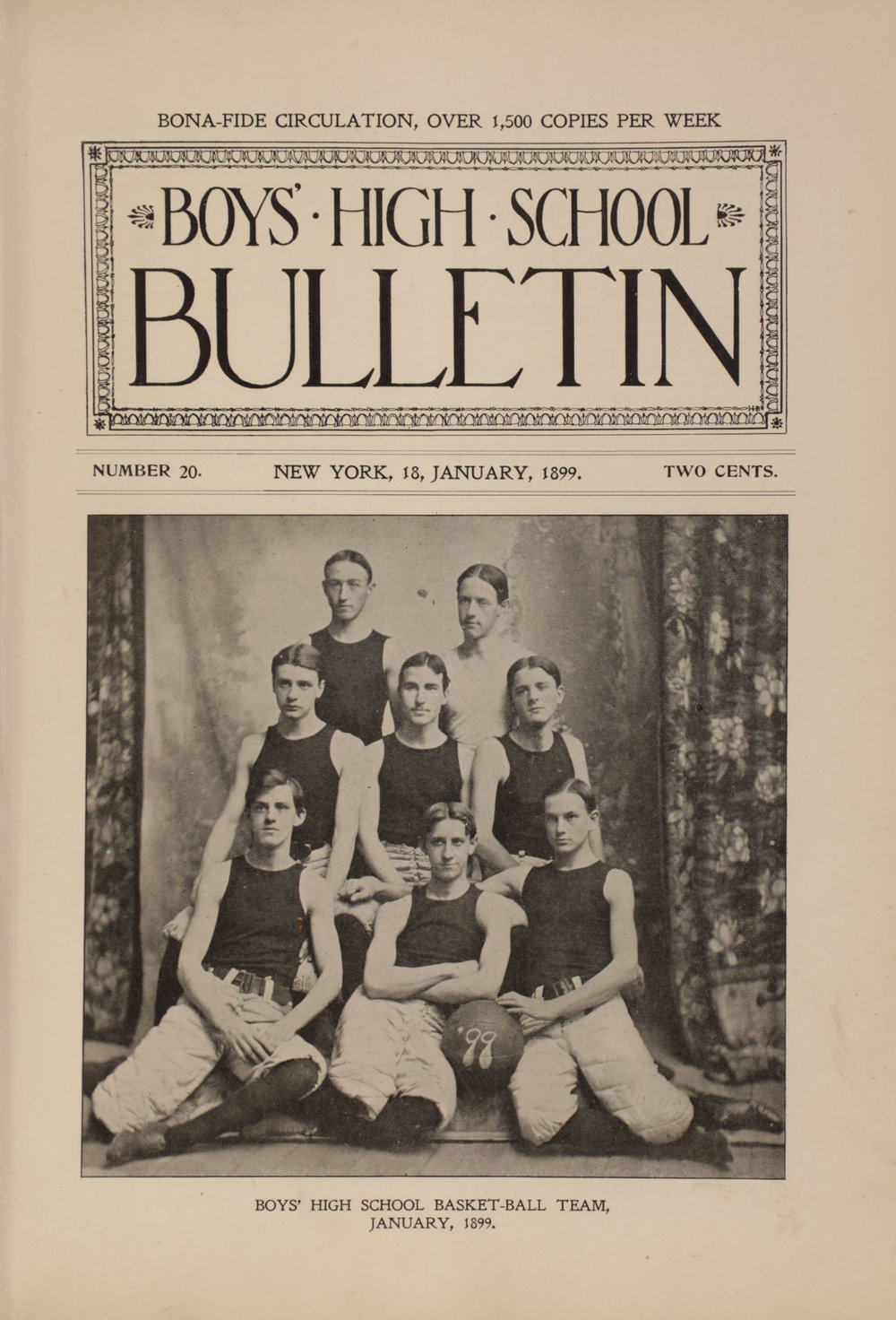Boys High School Bulletin , January 18, 1899. Board of Education Collection, NYC Municipal Archives.