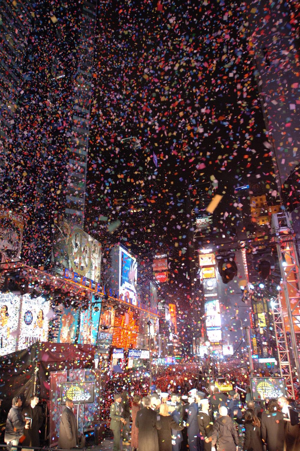 Colorful Confetti, Times Square, 2006