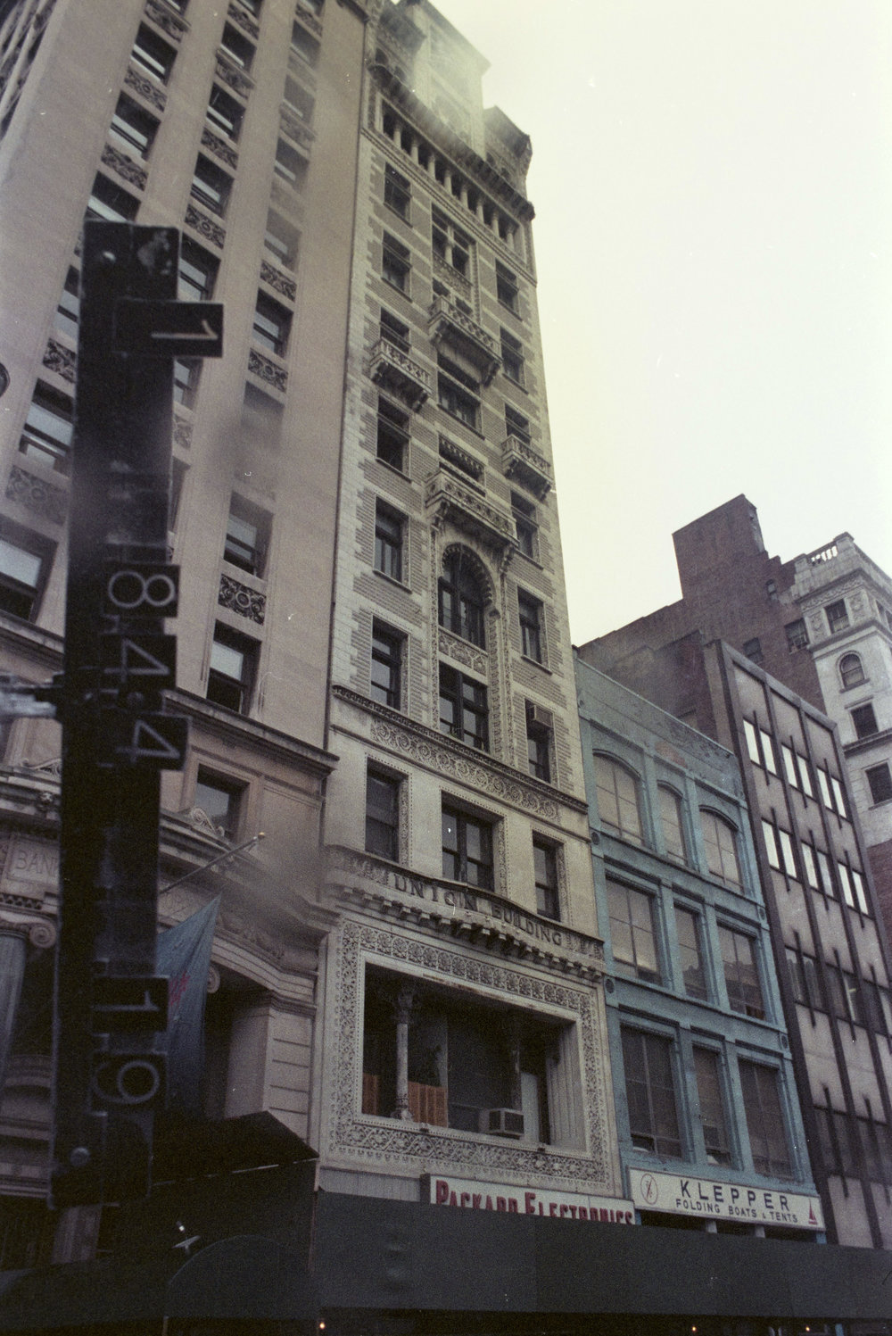 33 Union Square West, ca. 1985. Warhol was shot here in 1968. Department of Finance Collection, NYC Municipal Archives.