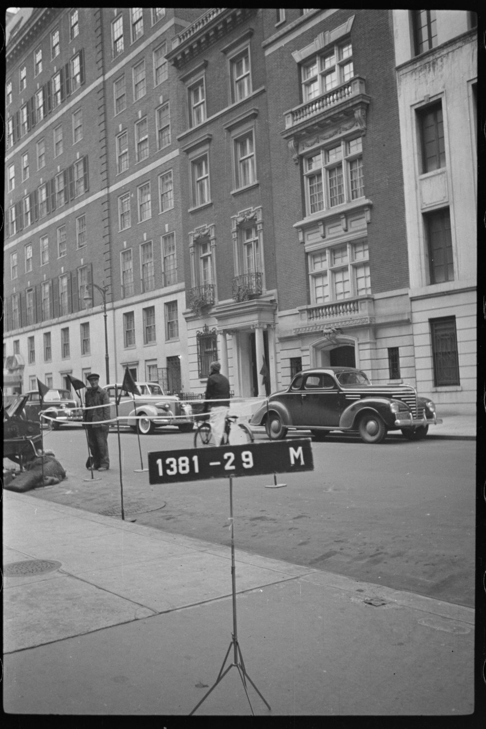 Warhol's townhouse at 57 E. 66th Street as it looked in the 1940 tax photo (at left). Department of Finance Collection, NYC Municipal Archives.