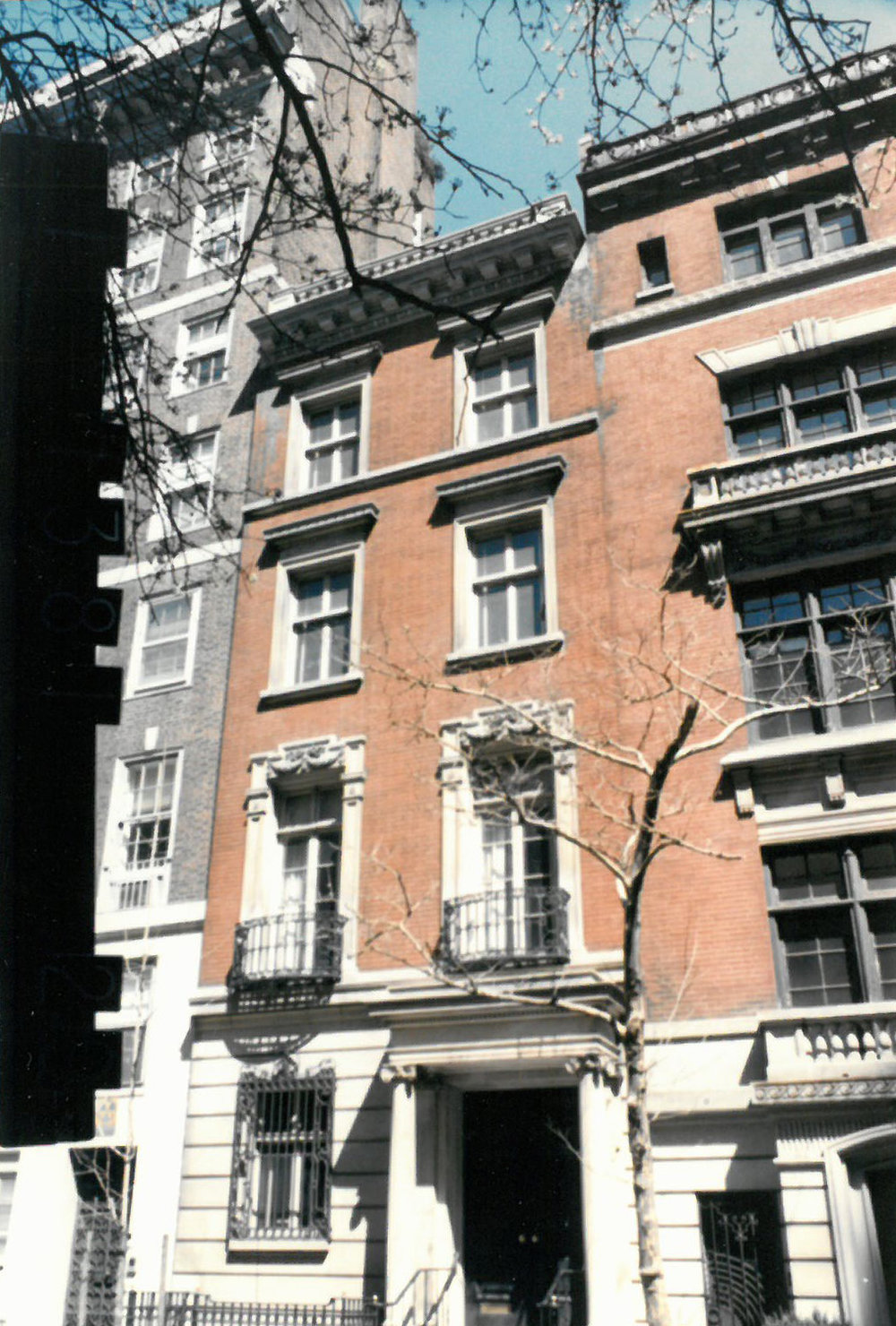 Warhol's townhouse at 57 E. 66th Street in the mid-1980s tax photo at right. Department of Finance Collection, NYC Municipal Archives.