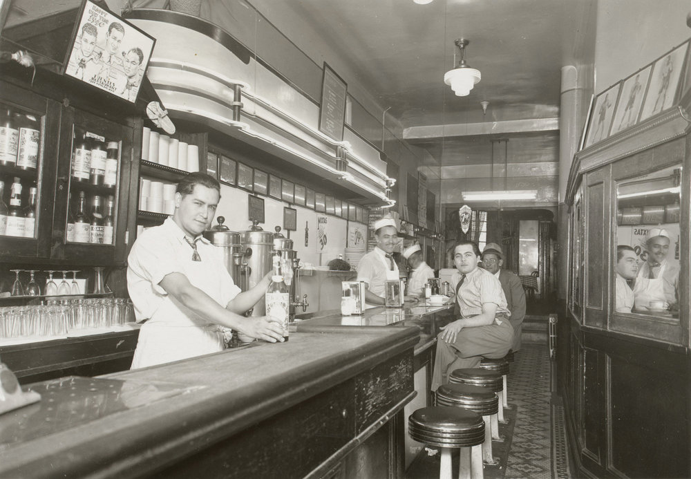 Fuentes, Puerto Rican restaurant, 1326 Fifth Avenue, ca. 1938. Photographer unknown, WPA Federal Writers' Project collection, NYC Municipal Archives.