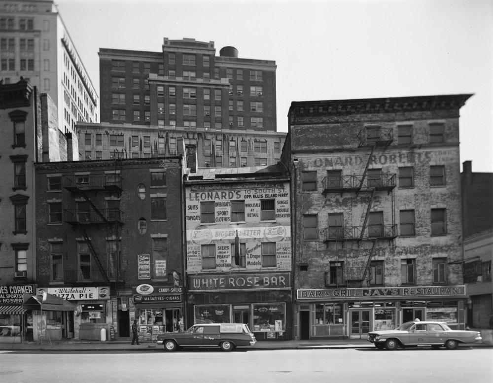 45-49 Whitehall Street, September 1963. Photographer unknown.
