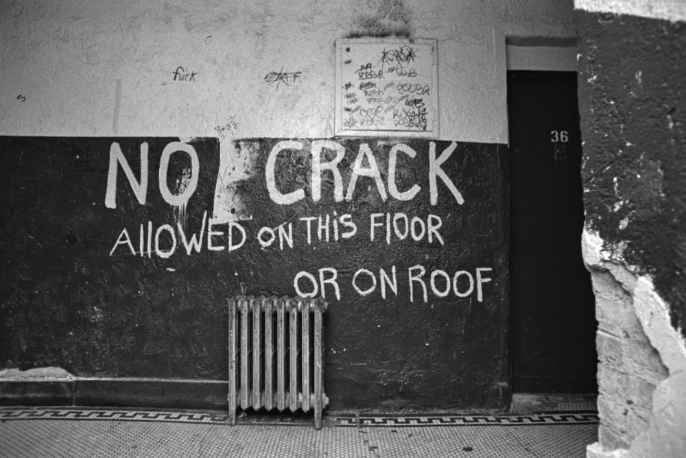 Hallway in the South Bronx, November 1989. Photograph by Larry Racioppo.