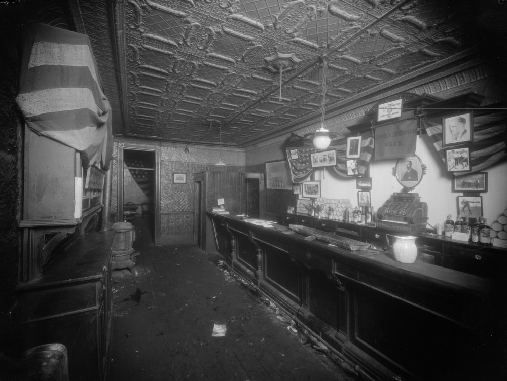 NYPD 8051c: Also photo showing speakeasy where John Daly shooting took place at Hicks and Amity St., February 5, 1926. Det. Gilligan, NYPD Collection, NYC Municipal Archives.