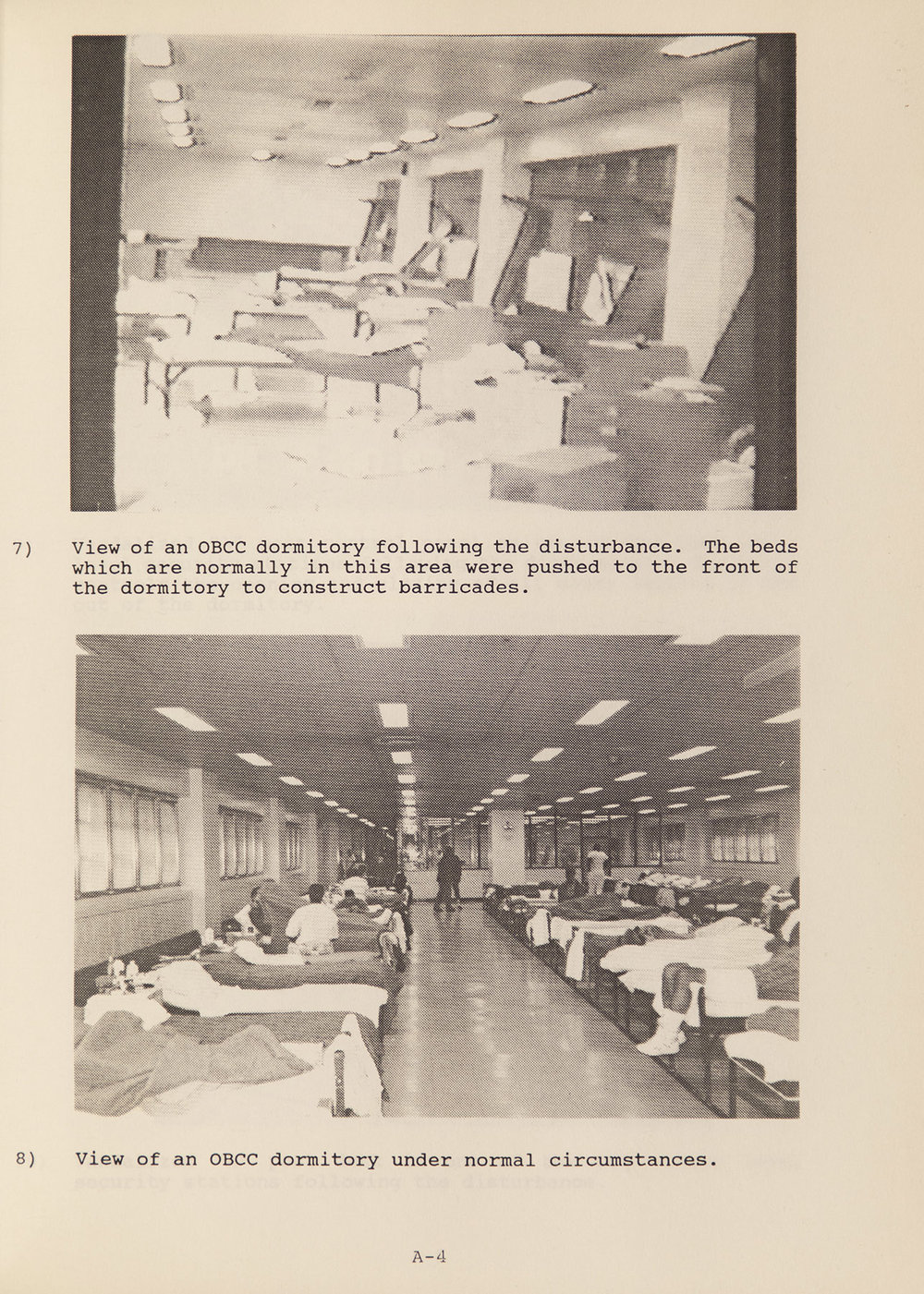 After and before scenes from  The Disturbance at the Rikers Island Otis Bantum Correctional Center, August 14, 1990: Its Causes and the Department of Correction Response . NYC Municipal Library.