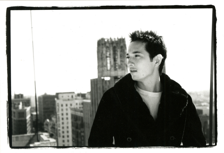 "In addition to head shots, my agency wanted modeling shots. Here I am, ""modeling"" on a roof in downtown LA. (I miss that coat...)"