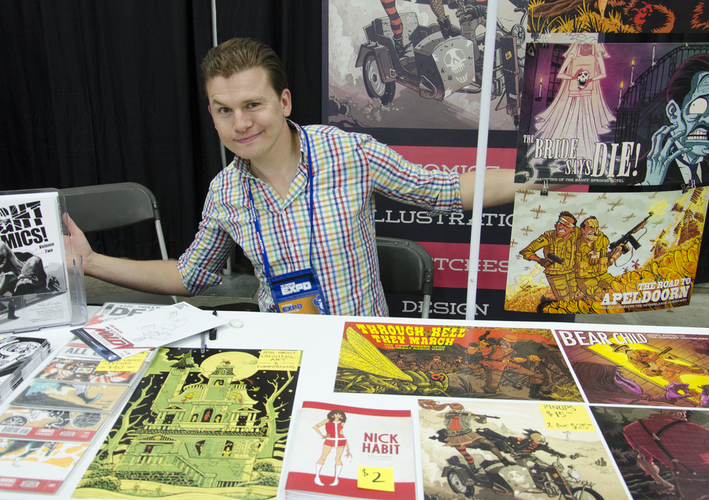 Artist Nick Johnson at the 2014 Edmonton Expo