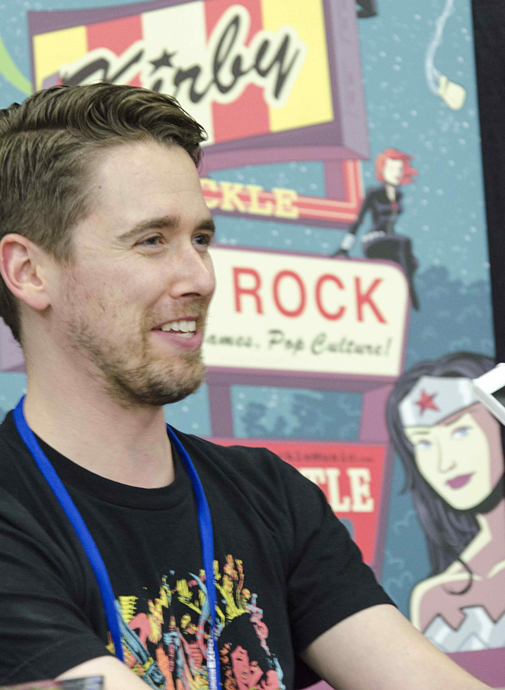 Kirby Krackle frontman, Kyle Stevens, at the 2014 Edmonton Expo