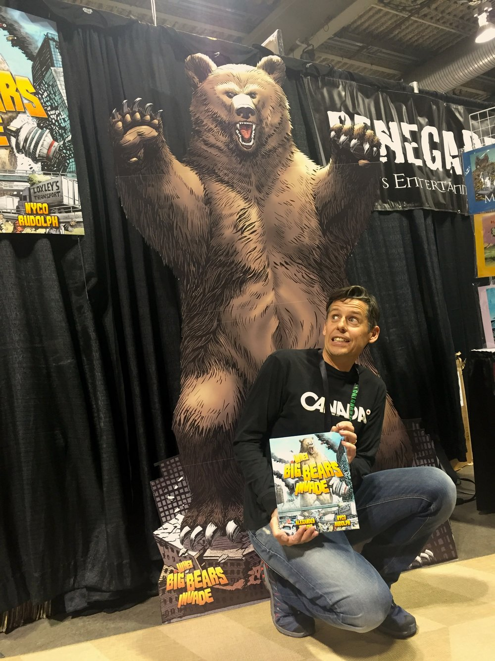 Writer Alexander Finbow - When Big Bears Invade. Calgary Expo 2017 (Photo credit: Chris Doucher/GeekNerdNet.com)