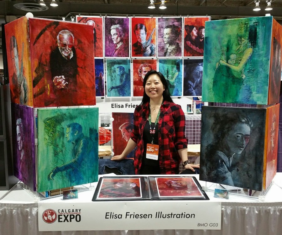 Elisa Friesen Illustration - Booth G03  (Photo credit: Elise Friesen via Facebook)