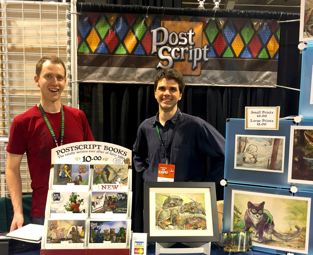 PostScript Comic: The Moogk-Soulis Brothers - Booth D06 (Photo credit: Chris Doucher/GeekNerdNet.com)