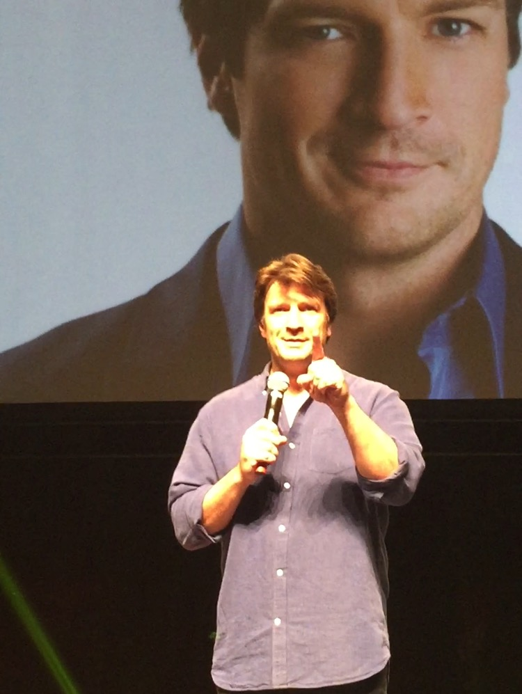 Nathan Fillion at the 2017 Calgary Expo. (Photo credit: Chris Doucher/GeekNerdNet.com)
