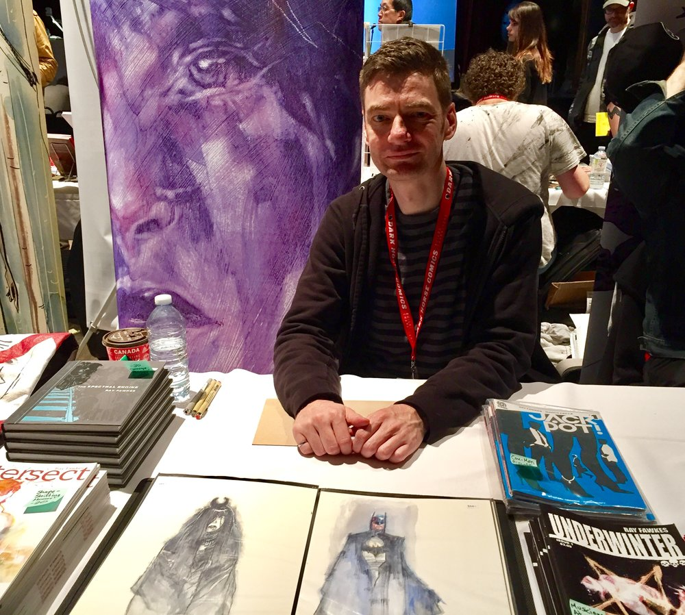 Ray Fawkes at TCAF 2017.  ( Photo credit: Chris Doucher/GeekNerdNet )