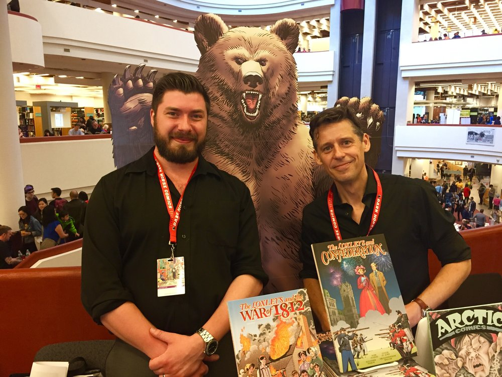 Nyco Rudolph (left) and Alexander Finbow at TCAF 2017.  ( Photo credit: Chris Doucher/GeekNerdNet.com )