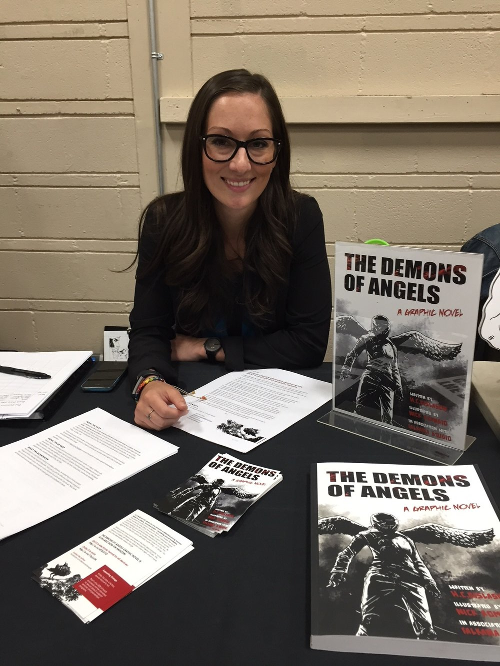 The Demons of Angels writer, H.C. Gislason at the 2018 Panel One Comic Creator Festival. ( Photo credit: Chris Doucher/GeekNerdNet.com )