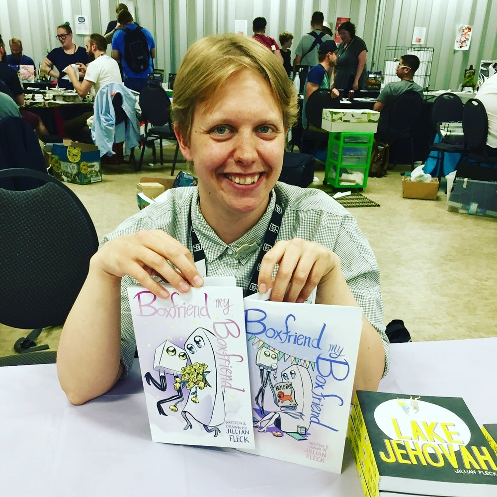 Creator Jillian Fleck at the 2018 Panel One Comic Creator Festival  ( Photo credit: Chris Doucher/GeekNerdNet )