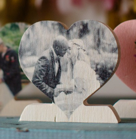 sample of wooden photo heart!