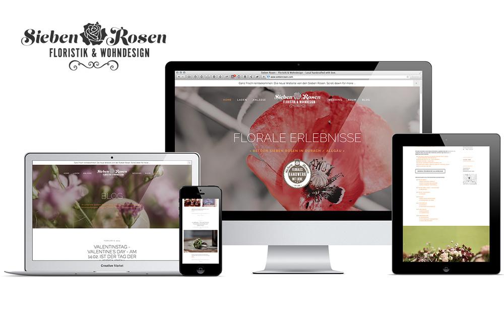 Die neue Sieben Rosen Website mit Responsive Design