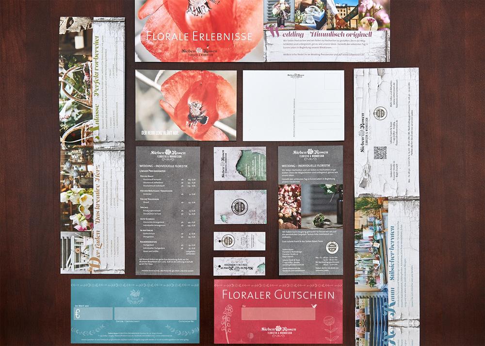 Das neue Erscheinungsbild der Sieben Rosen. Gestaltung:  DIE NEUE SPINNEREI  Fotografie:  Lux Larson PHOTOGRAPHY