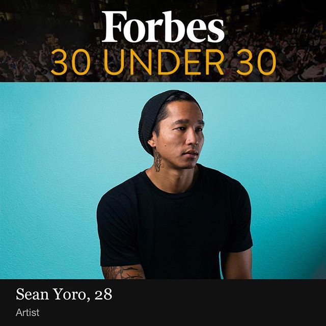 Congrats @the_hula on being nominated for @forbes #30under30 list for 2018. . I had the pleasure of meeting Sean while living in New York. He is an amazing artist and one of the most down to earth, nicest guys I've ever met. Check out his Instagram to see the magic he does on various and unique canvases. . . #thehula #forbes #30under30 #whatsyouroutlet #painting