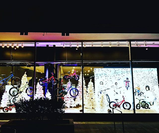 The staff at San Mateo's Cognition worked late to bring you our biggest holiday display yet! Stop by for all your holiday needs! #cognitioncyclery #holiday #sanmateo #alltheholidays