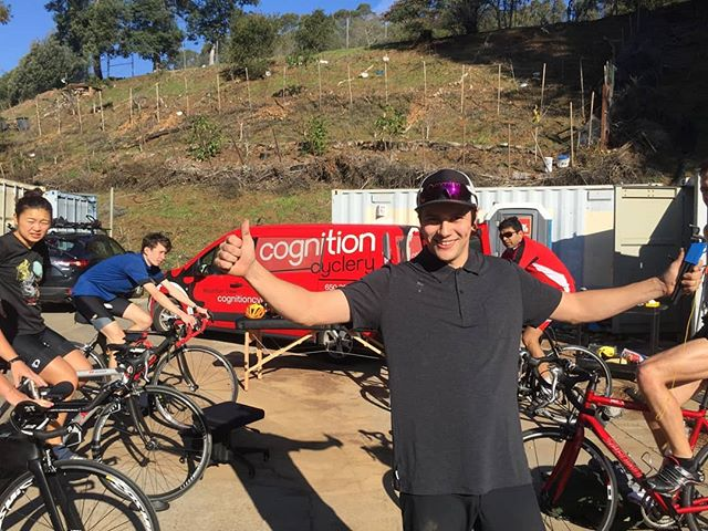 Our fitters spent the weekend dialing in the @cal_triathlon team! Come see us at either location for all your bike fit needs✌️🚴 #cognitioncyclery #triathalon #dialed #bikefit #retul #iamspecialized