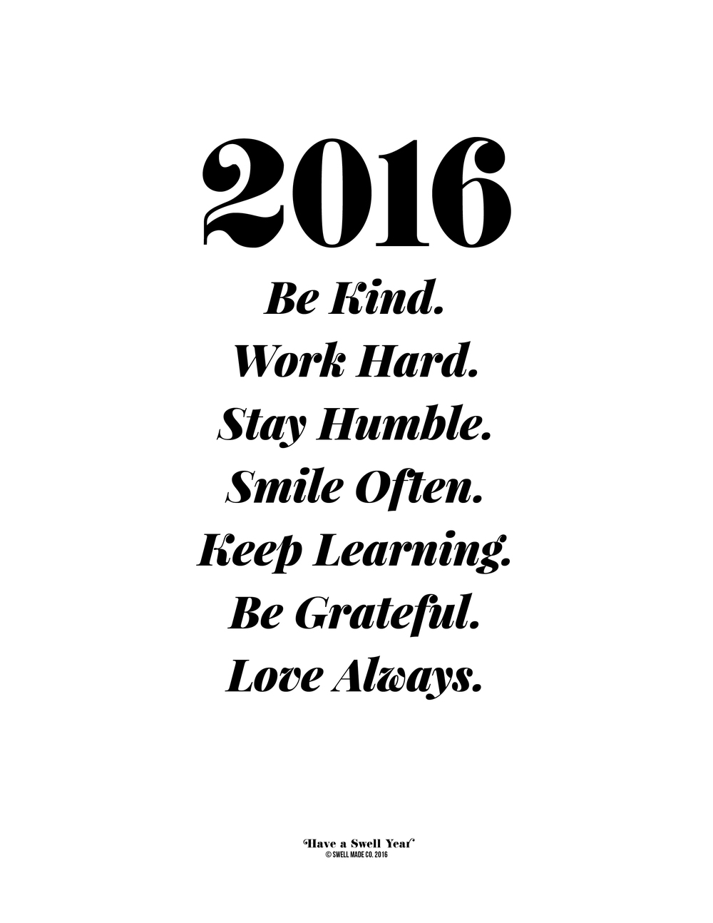 Simple goals for 2016.
