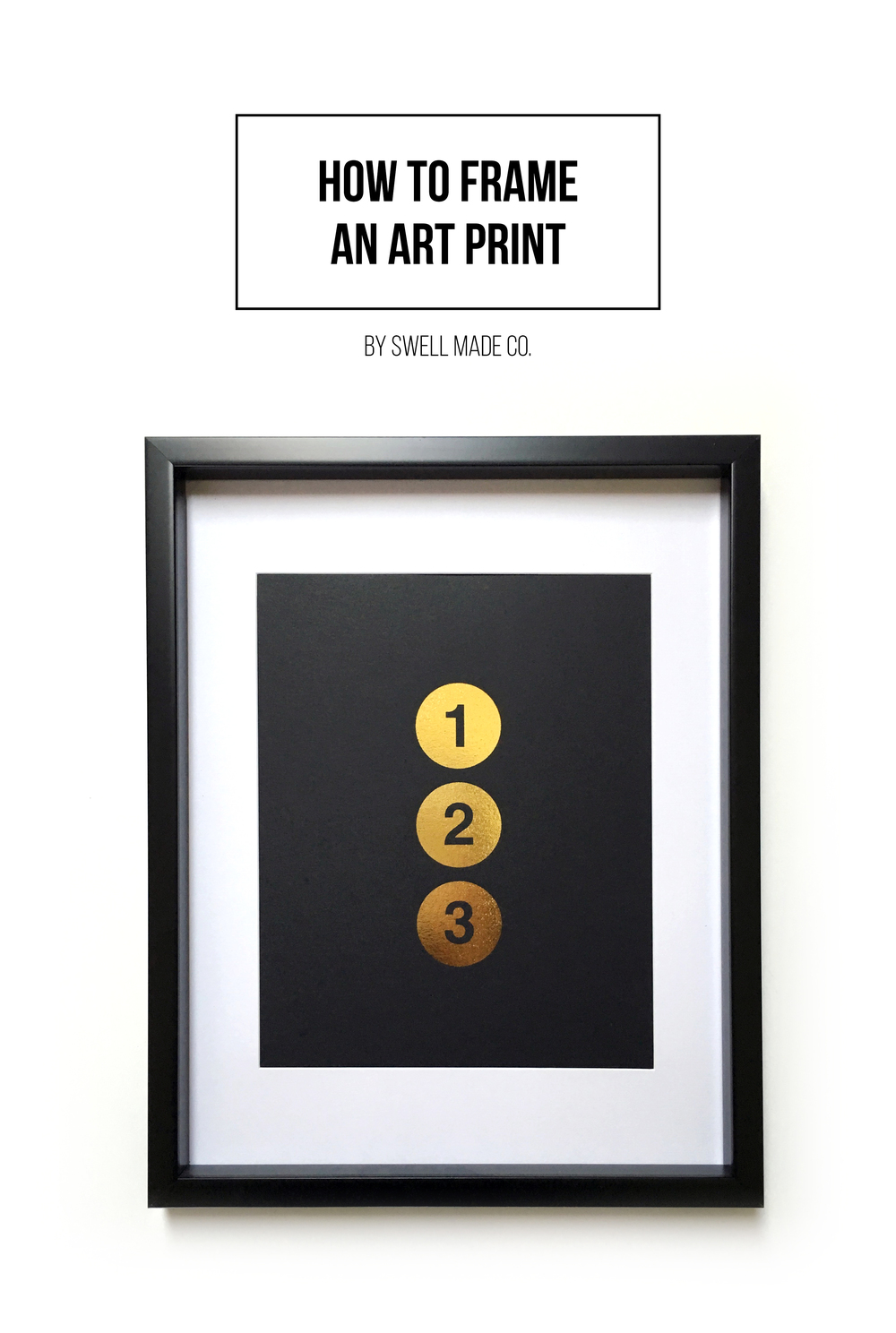 Framing an art print can be as easy as 1-2-3. A guide by Swell Made Co.